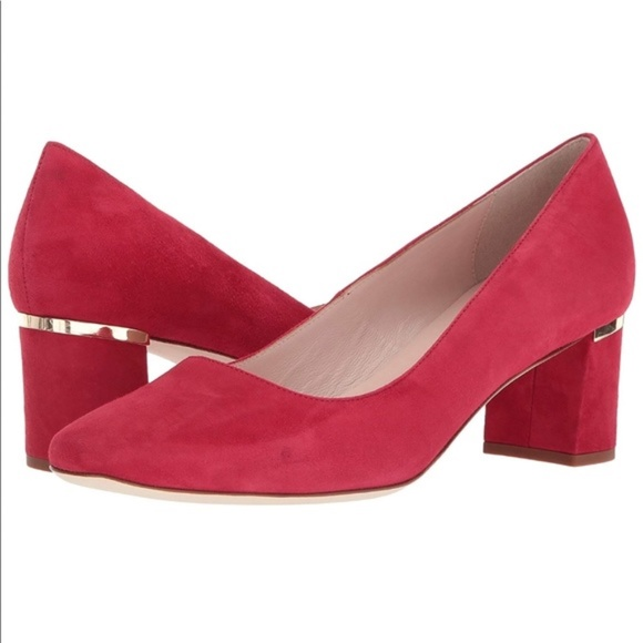 931776ac578b NWT  Kate Spade  New York Dolores Red Block Heels